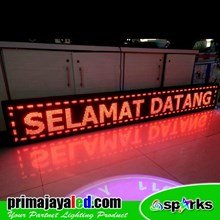 Running Text LED Display 297 X 41cm Merah