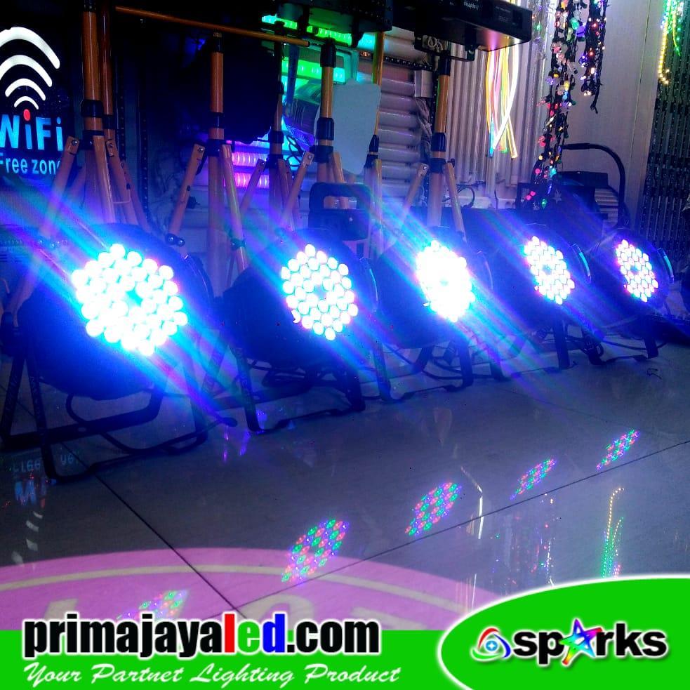 Jual Lampu Panggung Paket Set 5 Par LED 36 X 3w RGB Harga