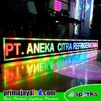 Jual Running Text LED Display 357 X 37 Cm Fullcolor