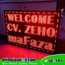 Running Text LED Display 101 X 65 Cm Merah