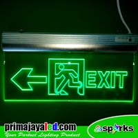 Lampu LED Sign Exit Acrylic Panah Kiri