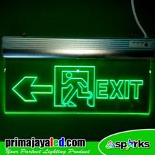 Lampu LED Sign Exit Acrylic Panah Kiri