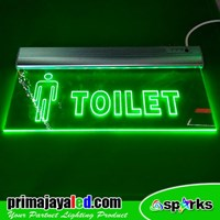 Lampu LED Sign Emergency Toilet