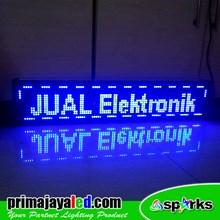 Running Text LED Biru 101 X 21 Cm