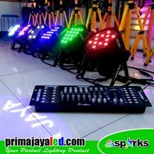Lampu PAR Paket Par LED 54 RGB Set 6 DMX