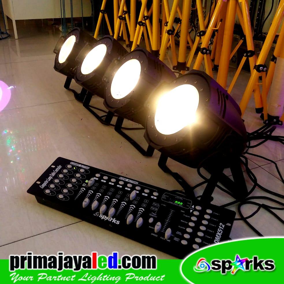 Jual Lampu PAR Fresnel LED 100W Set 4 DMX 192 Harga Murah
