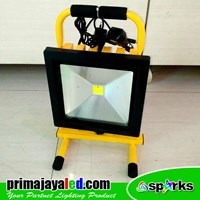 Lampu Emergency Charger LED Floodlight 50W
