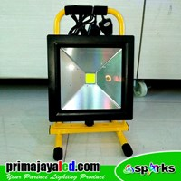 Lampu Emergency Charger LED Floodlight 30W