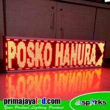 Running Text LED Display 137 X 37cm Merah