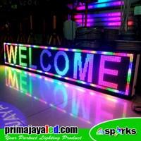 Jual Running Text LED 197 X 37cm Fullcolor