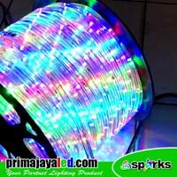 Lampu LED Outdoor Selang Bulat RGB 100 Meter