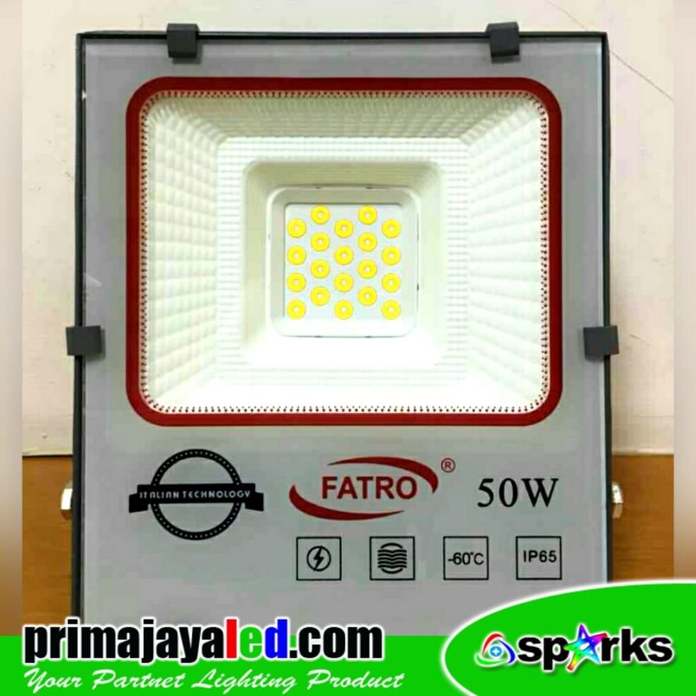 Jual Lampu LED Outdoor Lampu Tembak Fatro 50 Watt Harga