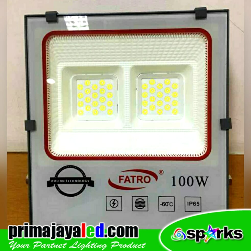 Jual Lampu LED Outdoor Tembak Fatro 100 Watt Harga Murah