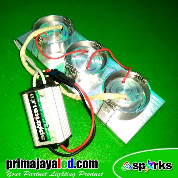 Lampu Downlight Ceiling LED 3 X 1 Watt Spotlight