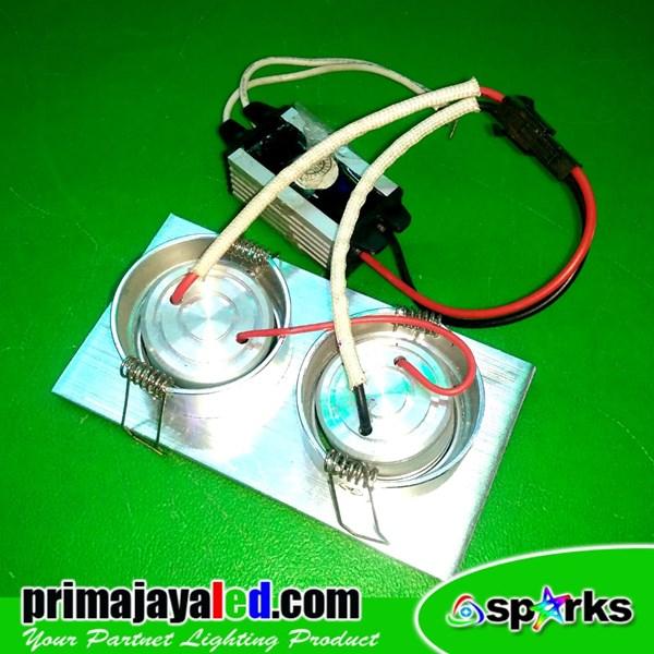 Lampu Downlight Ceiling LED Spotlight 2 X 1 Watt