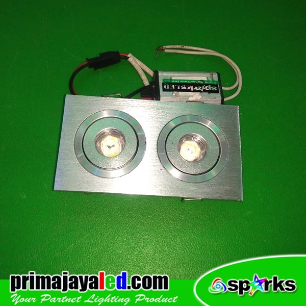 Lampu Downlight Ceiling LED Spotlight 2 X 1 Watt