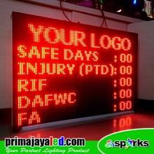 Running Text LED Display 101 X 69cm Merah