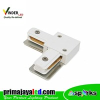 Vinder Connector Rell Track White Elbow