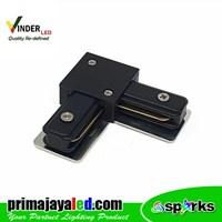 Vinder Connector Rell Track Black Elbow