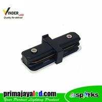 Vinder Connector Rell Black Straight Track