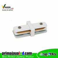 Vinder Connector Rell White Straight Track