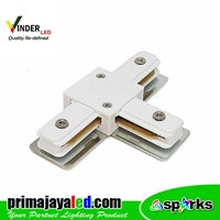 Vinder Connector Rell Track T White