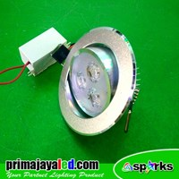 Lampu Ceiling LED Silver 3 Watt