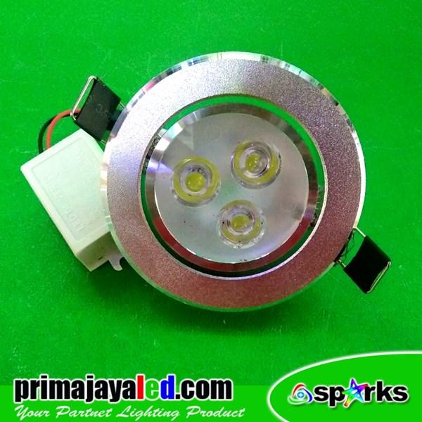 Lampu Ceiling LED Silver 3 Watt