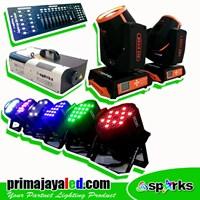 Lampu Panggung Paket Mini Stage Komplit DMX Basic