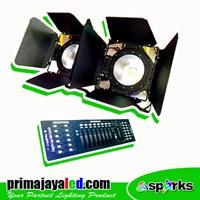 Lampu Paket Stage Fresnel 100 DMX Basic