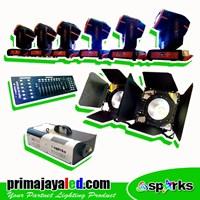 Lampu Panggung Paket Moving Beam Fresnel DMX Basic