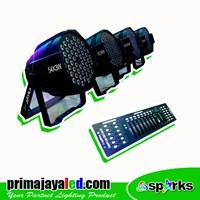 Lampu Panggung Paket Par LED Set 4 DMX Basic