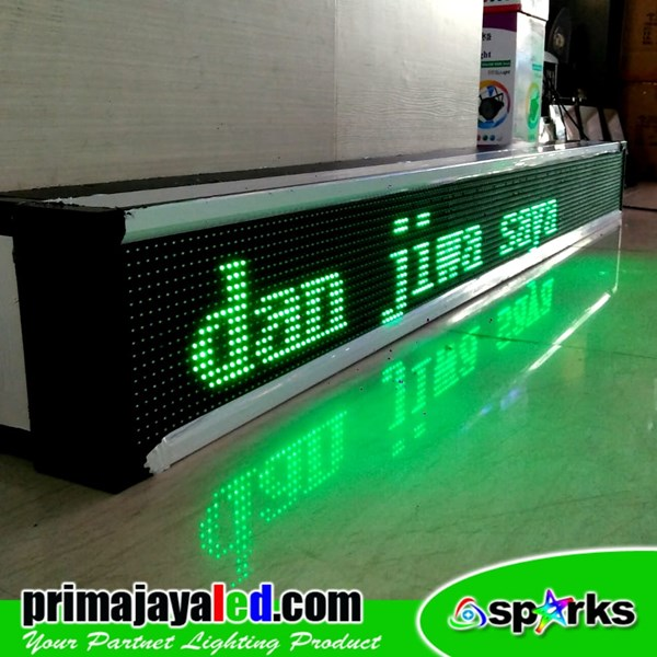 Running Text LED 197 X 21cm Hijau