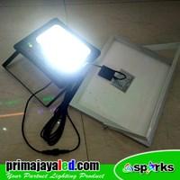 Lampu Sorot LED Solar Panel Set 50 Watt Murah 5