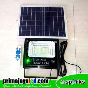 Lampu Sorot LED Solar Panel Set 50 Watt