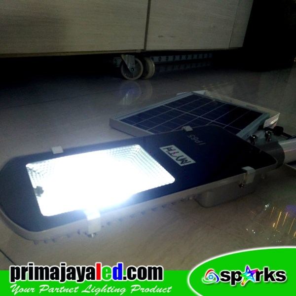 Lampu Jalan PJU LED  Set Sollar Panel 30W