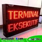 Running Teks LED 69 X 37cm Merah 3