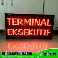 LED Running Text 69 X 37 cm Red 1
