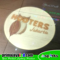 Custom Logo LED Hooters Jakarta Projector