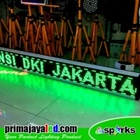 Running Text LED 197cm X 21cm Hijau