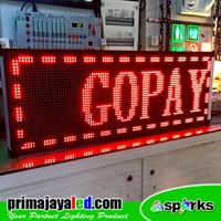 Running Text LED Merah 101 X 37cm