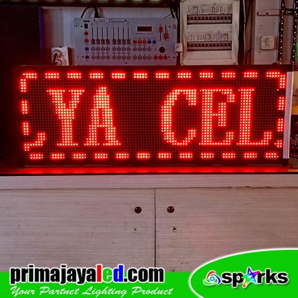 Running Text LED Merah 101 X 37cm
