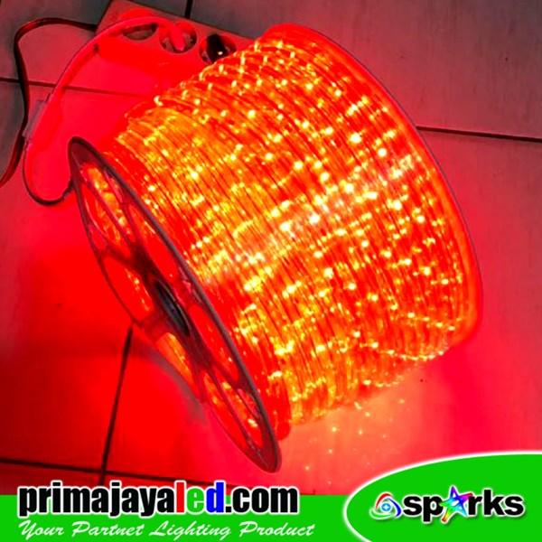 Lampu LED Selang Model Bulat Merah IP 65 Outdoor