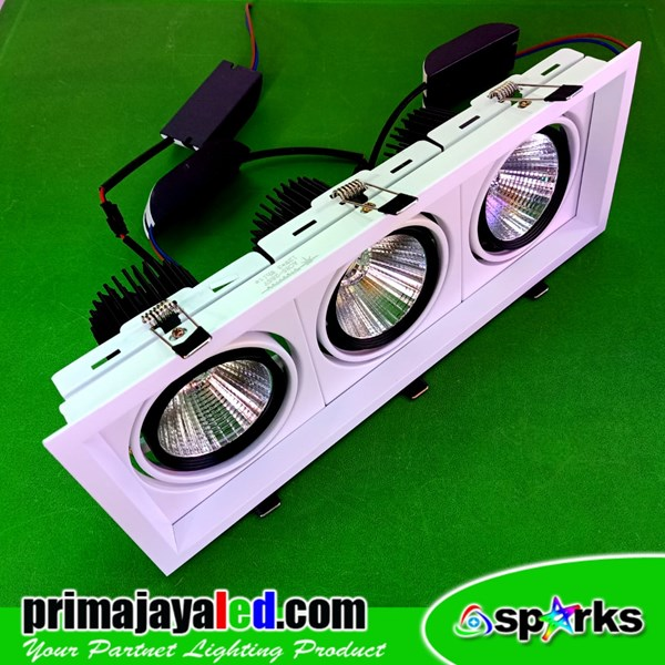 Lampu LED Downlight COB 3 x 12 Watt