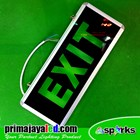 Sign Exit Emergency Model 2 sisi 2