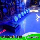 Paket 6 PAR LED 54 x 3 Watt RGBW Body Putih DMX 240 3