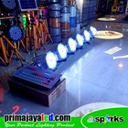 Paket 6 PAR LED 54 x 3 Watt RGBW Body Putih DMX 240 1