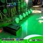 Paket 6 PAR LED 54 x 3 Watt RGBW Body Putih DMX 240 4