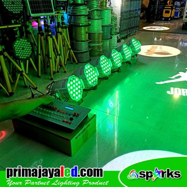 Paket 6 PAR LED 54 x 3 Watt RGBW Body Putih DMX 240