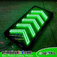 LED Sign Model Panah Hijau